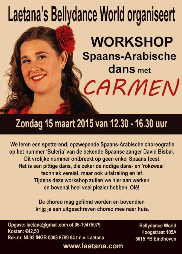 workshop Spanish Arabische dans met Carmen